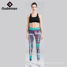 Desgaste ativo sexy dobrar mulher leggings de ioga apertados em estoque