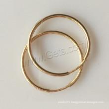 2015 Gets.com gold filled big wide hoop earring finding Hoop Earring Components
