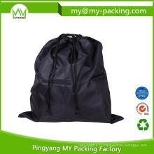 Logo d'OEM et emballage adapté aux besoins du client de sac de cordon de Cinch d'équipe de taille