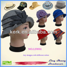 Stylish winter wool hat round top hat , Decorative Hats,LSW61