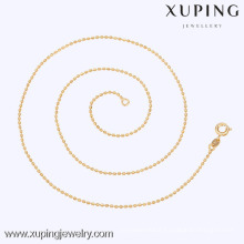 42589 Xuping Gold Bead Necklace Design Cheap Slim Fashion Necklace