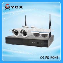Nuevo sistema sin hilos de la cámara de la vigilancia de la cámara de la promoción H.264 de la llegada CCTV 4ch 720P Wifi Nvr Kit del sistema p2p DC12v