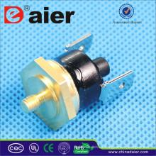 Termóstato de reinicio manual KSD301 5/10 / 15A 250VAC 50 ~ 180 grados Disyuntor de la cabeza de Hexagan KSD301-HR2