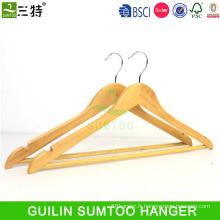 costume de costume en bois de prix bas avec crochet de pantalon avec barre de verrouillage cintres en bois bon marché