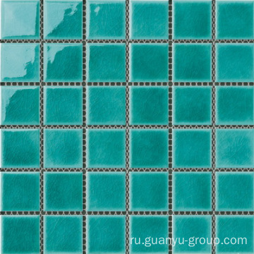 Classic green color 6mm swimming pool mosaic