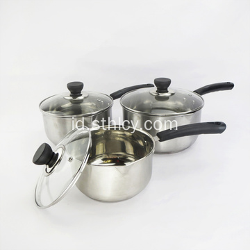 Home Kitchen 3-Piece Cooking Milk Pot Set