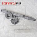 Aluminum degasser graphite pole and impeller