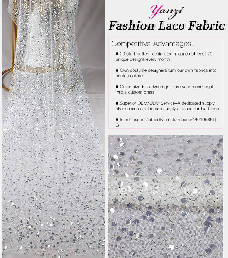Crystal Sequined Fabric