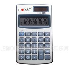 12 chiffres Calculatrice de poche à double alimentation avec portefeuille optionnel (LC328A)