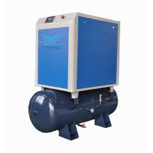0.6m3/min 10bar 5.5KW Air Receiver 300L integrated Rotary Air Screw Compressor