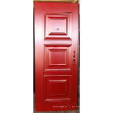 Puerta de panel de relieve profunda de diseño simple