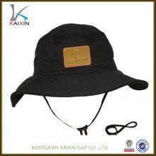 пользовательские хлопок широкий краев шляпу ведро со струнным