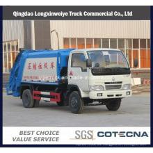 6 Wheeler Dongfeng 6-10cbm camión de basura comprimido