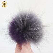Echtes hochwertiges kundenspezifisches Beanie-Wollmütze mit Waschbär-Pelz-Ball Pom poms Wollmütze
