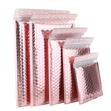 Low Price Custom Design Envelopes Bubble Mailing Bag Rose Gold Air Bubble Bag