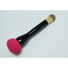 Doble-Edged con la esponja del maquillaje y el cepillo sintético de la fundación del pelo