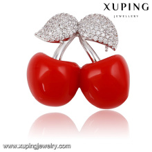 00028-xuping fashion china wholesale brooch,new brooch design cherry shape women brooch