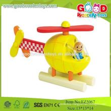 2015 Wooden Mini Set Toys,New Item Design Helicopter Model Plane Toys