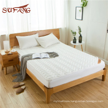 Quilted pattern quilted cotton waterproof anti-worms deep pocket mattress protector