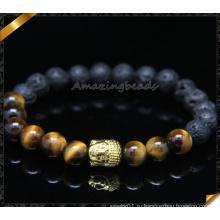 Браслеты из бисера с металлическим сплавом из бисера с каменными украшениями (CB0105)