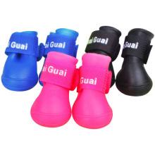 Zapatos impermeables antideslizantes para mascotas Zapatos para perros de silicona Rainboots