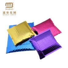 Contador polivinílico metálico de cobre de la prenda impermeable del sobre de la hoja acolchada envolvente al por mayor del envío