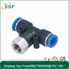 China brass pnuematic female branch tee tube fitting