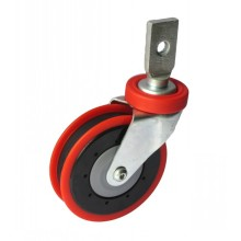 """5"""" Splinting Type Rigid Shopping Cart Caster (red, one groove)"""