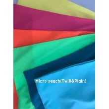 100% Polyester Micropeach Twill and Plain