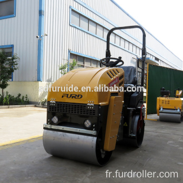 Double Steel Drum Mini Asphalt Roller Compactor FYL-880