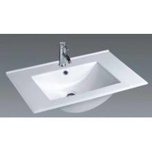 Bassin de salle de bains en céramique à vanité fine (75E)