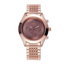 Relógio de pulso dos homens da liga de ouro de Rosa para impermeável