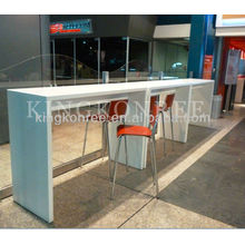 solid surface high top bar tables