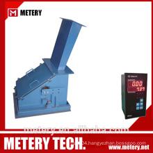 Preset valve control solid flow meter