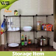 Estante de cocina de metal ensamblado fácil de la exhibición del almacenaje de DIY
