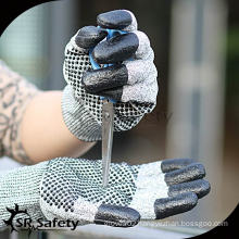SRSAFETY 13G Cut Resistant Nitrile Working Glove/Nitrile Dots On Palm Gloves