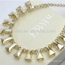 Luxuoso amarelo austríaco colar de cristal original atacado
