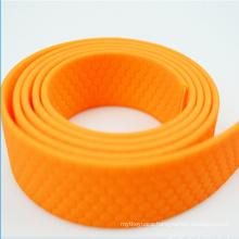 Black colored plastic matte TPU coated nylon collr pet leash webbing strap