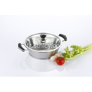 Ensemble de casseroles Hot Pot en acier inoxydable