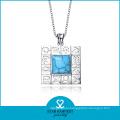 Genuine Fashion Semi -Precious Stones Jewelry Silver Necklace (N-0109)