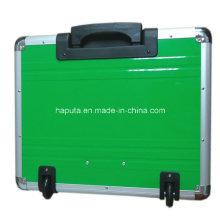 Rolling Case de aluminio con sistema de carro integrado (HP-3207)