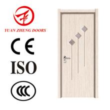 China Puerta de madera Diseña puerta de la habitación del PVC MDF