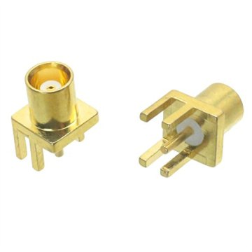 MCX female jack PCB edge mounting connector