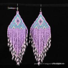 2013 mode bijoux Boucles d'oreilles avec la couleur mélangée