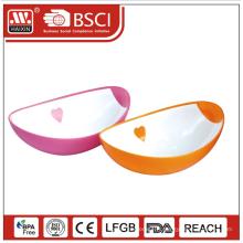 Plastique durable autour de soupe de taille multi poissons fruits sucre bébé bol à mélanger