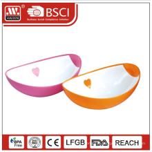 Прочные пластиковые круглые multi размер суп миске ребенок рыбы фруктовый сахар