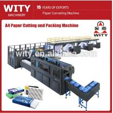 A4 Cortar papel de fotocopia, cortar y envolver la línea de producción