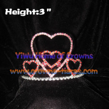 Heart Shaped Crystal Love Crowns