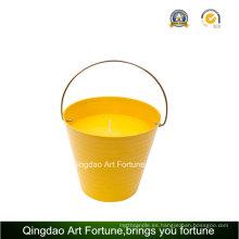 Cubo de pote Citronella Vela al aire libre para la decoración del jardín