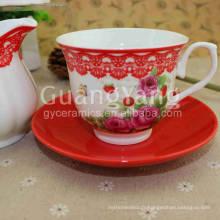 Ensemble personnalisé de thé personnalisé émaillé de porcelaine de conception